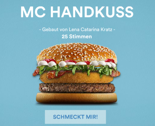 MC HANDKUSS_Burger_Mc_Donald_Mein Burger