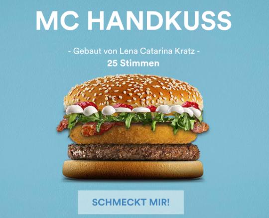 MC HANDKUSS_Burger_Mc_Donald_Mein Burger