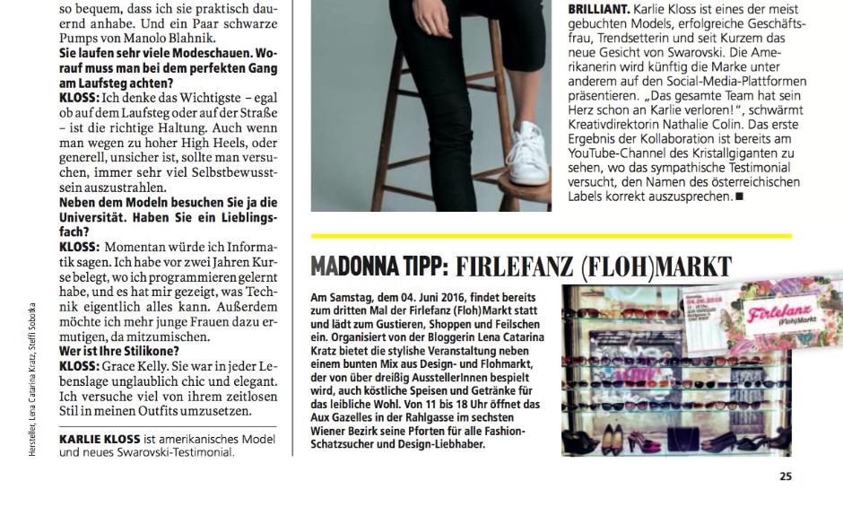 Madonna_Firlefanz Flohmarkt_Ankündigung