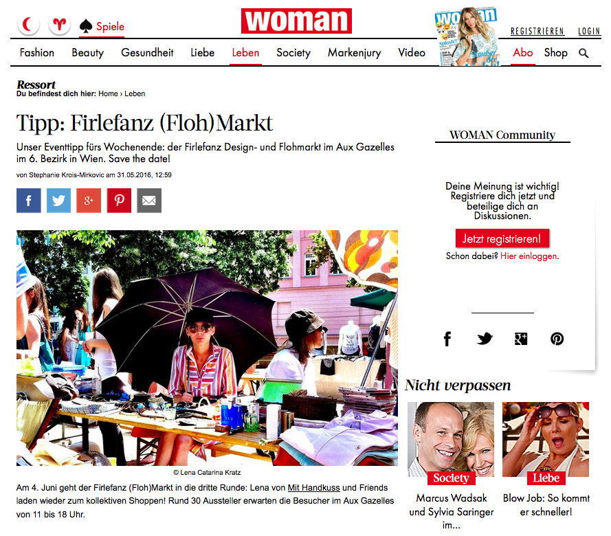 Feature_Woman_Firlefanz Markt_Blogger_mit Handkuss