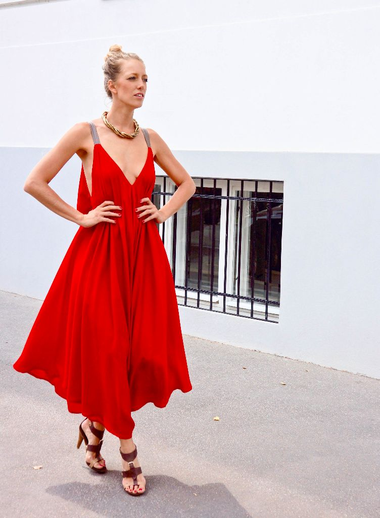 mit Handkuss - Jumpsuit Chava Hot Red Nappa