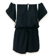 mit Handkuss_Playsuit_Off Shoulder Godiva Black